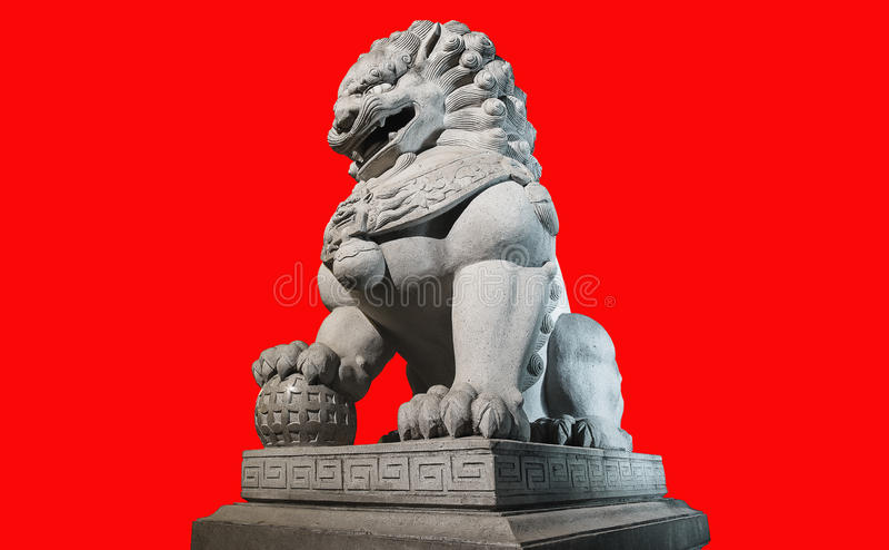 Estátua imperial chinesa do leão fotos de stock