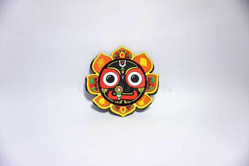 Estátua indiana da cara do devi da deusa no fundo branco imagens de stock