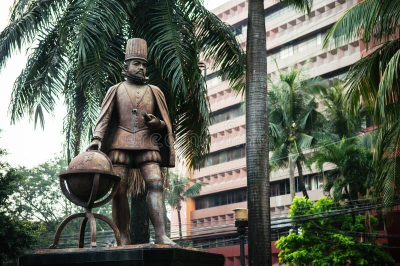Estátua intra muros, Manila do rei Philipe II, Filipinas fotos de stock royalty free