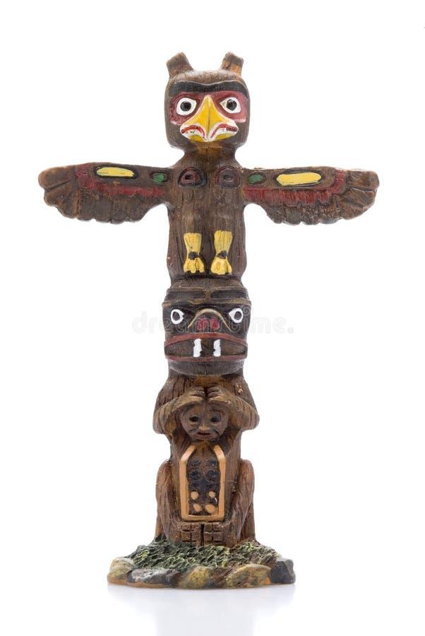 Estátua isolada de pólo de Totem fotos de stock royalty free