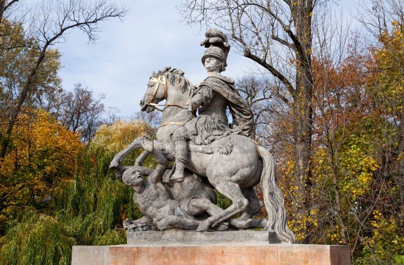 Estátua janeiro III Sobieski foto de stock