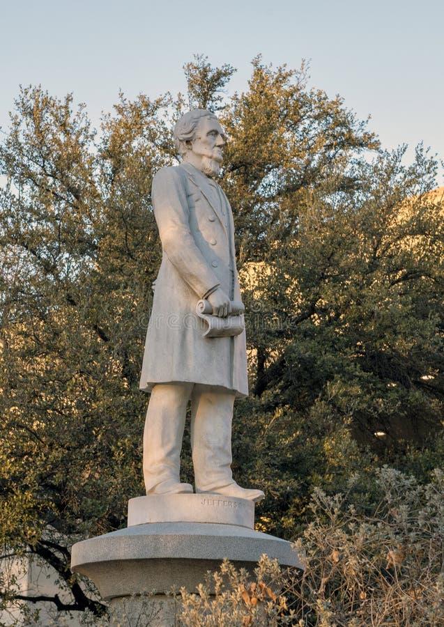 Estátua Jefferson Davis, o memorial de guerra confederado em Dallas, Texas imagem de stock royalty free