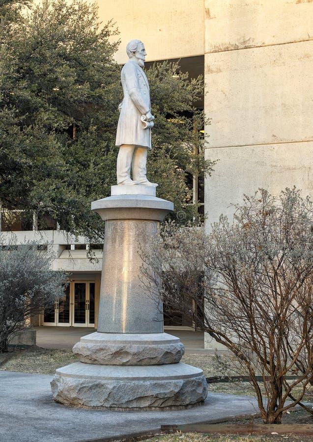 Estátua Jefferson Davis, o memorial de guerra confederado em Dallas, Texas foto de stock royalty free