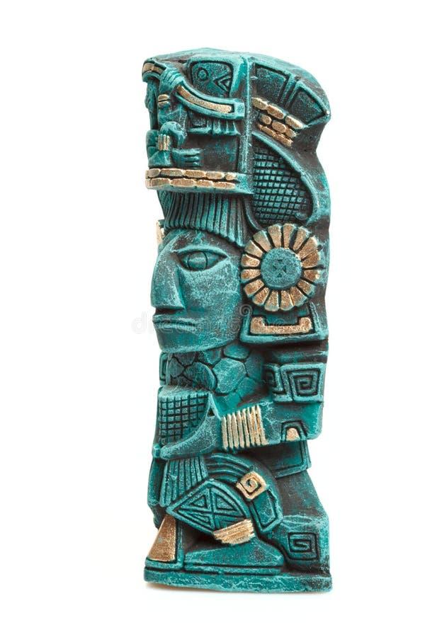 Estátua maia da deidade de México isolado imagens de stock royalty free