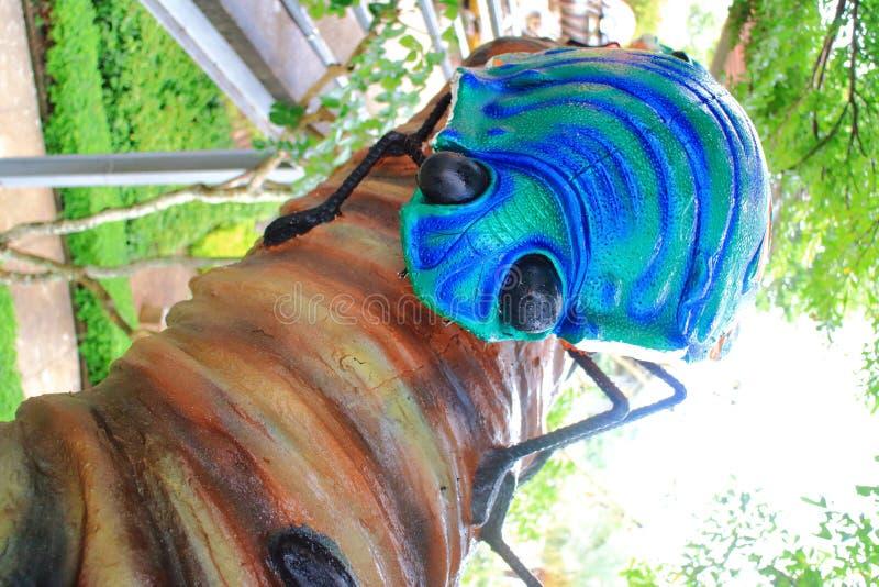Estátua metálica do besouro da madeira-perfuração fotografia de stock