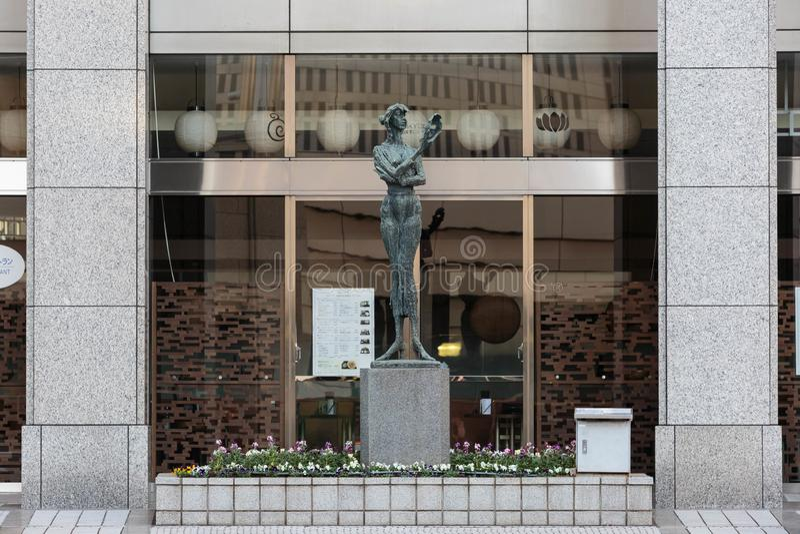 Estátua metropolitana da construção do governo do Tóquio de Japão fotografia de stock royalty free