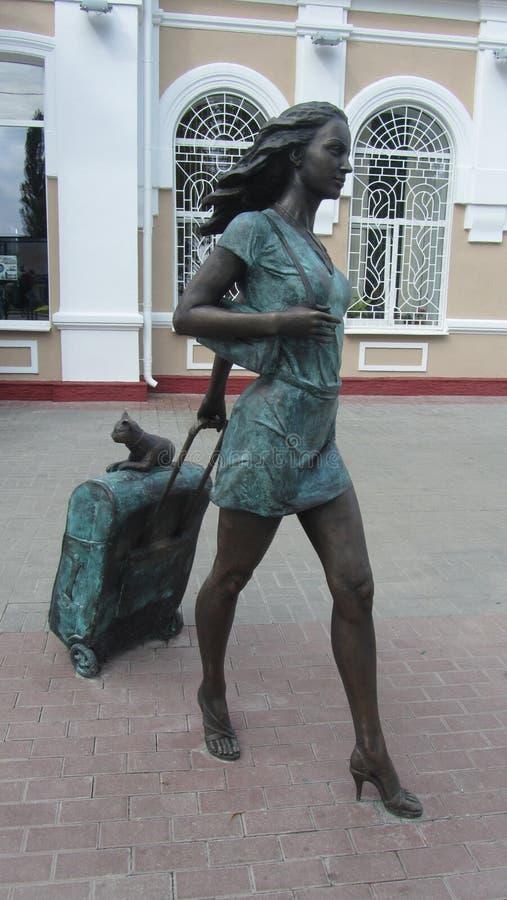 estátua Molodechno Bielorrússia imagem de stock royalty free