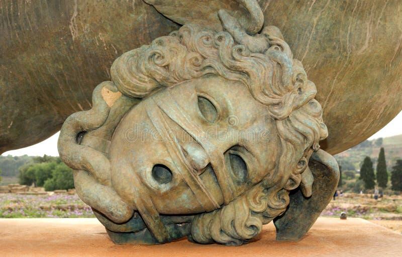 A estátua na área archeological de Agrigento imagem de stock royalty free
