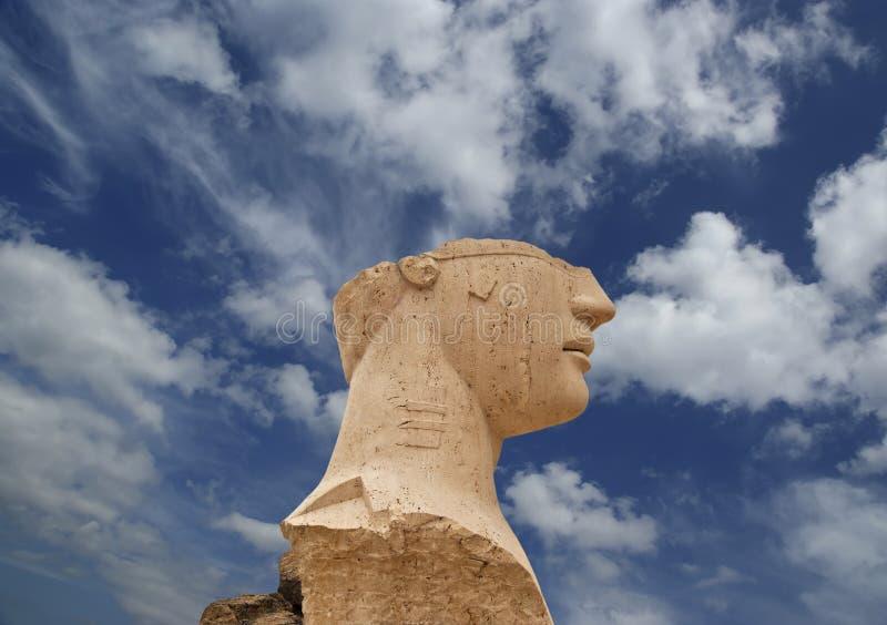 Estátua na área arqueológico de Agrigento, Sicília, Itália imagens de stock