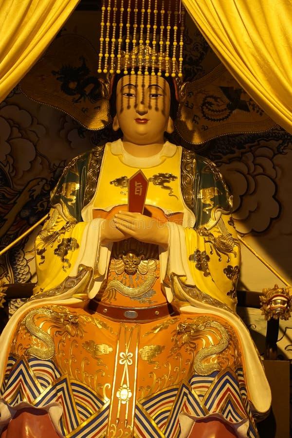 Estátua na figura fé da escultura de China de Ásia da religião religiosa imagens de stock royalty free