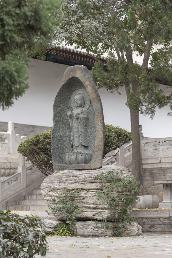 Estátua no complexo de xian do templo do pagode do ganso - imagen da Buda imagem de stock royalty free