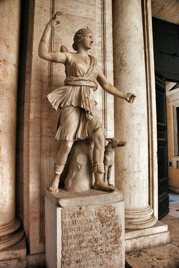 Estátua no museu Capitolini, Roma Itália imagem de stock royalty free
