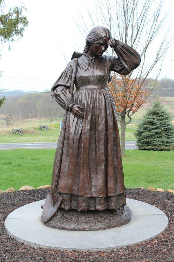 Estátua no PA de Gettysburg fotos de stock royalty free