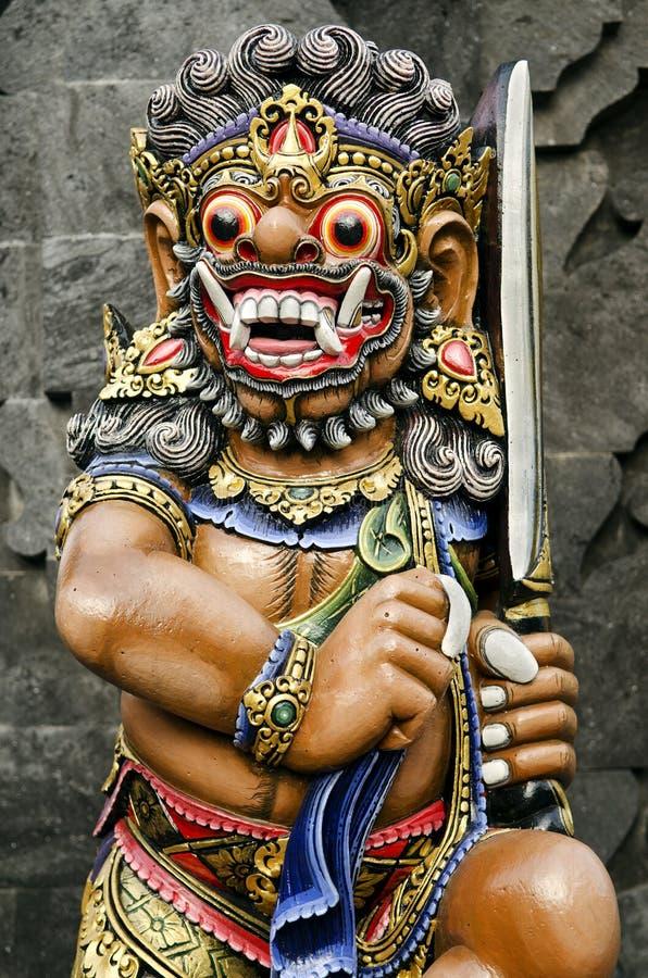 Estátua no templo bali Indonésia fotografia de stock royalty free