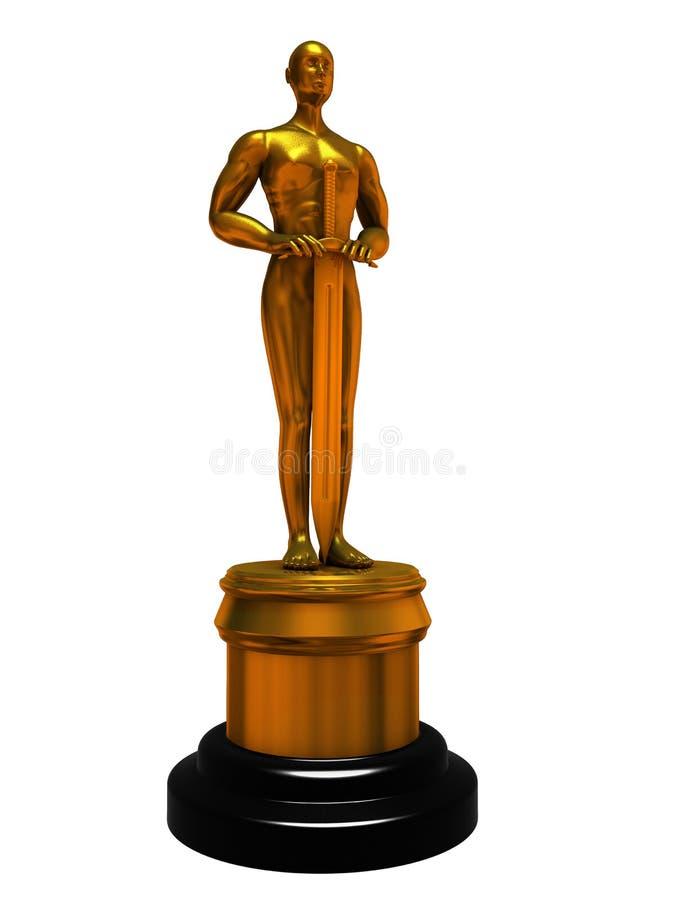 Estátua Oscar ilustração stock