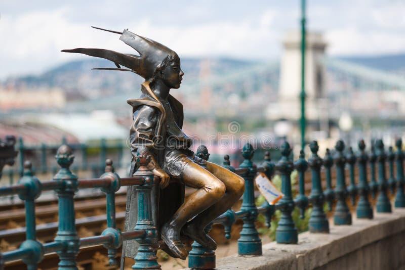 A estátua pequena da princesa Jester fotos de stock royalty free