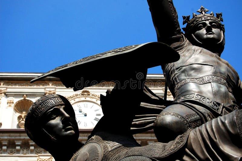 Estátua preta imagem de stock