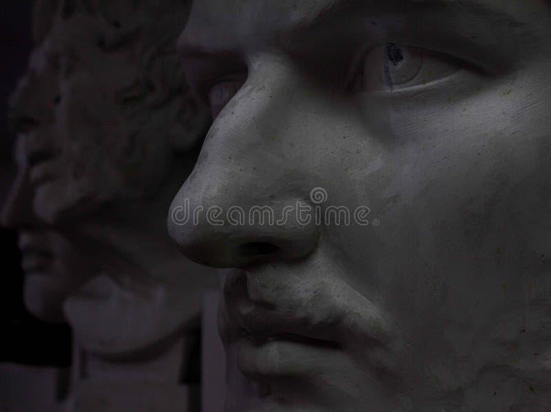 Estátua principal da gipsita imagem de stock royalty free