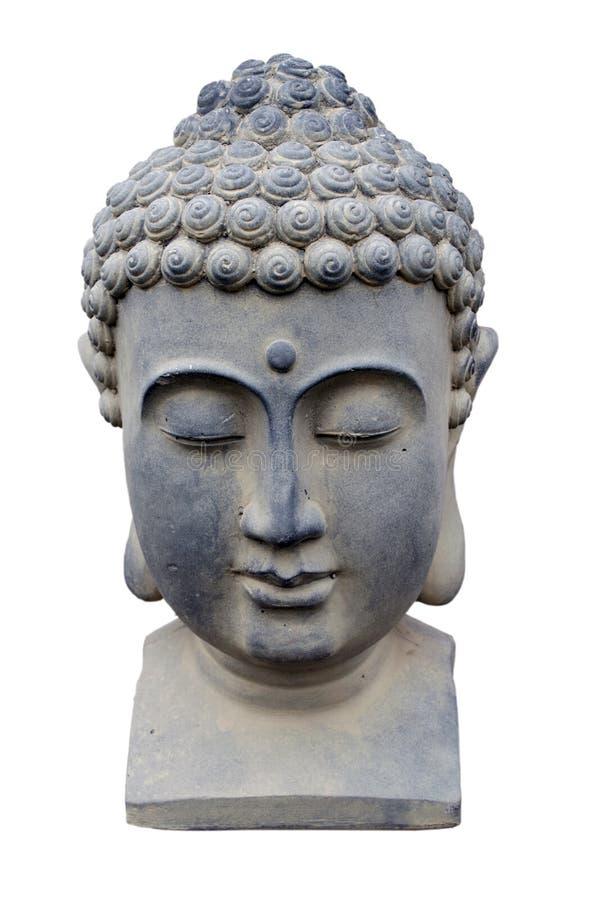 Estátua principal de Buddha fotos de stock royalty free