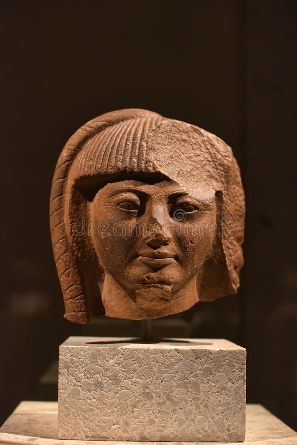 Estátua principal de Egito antigo fotografia de stock