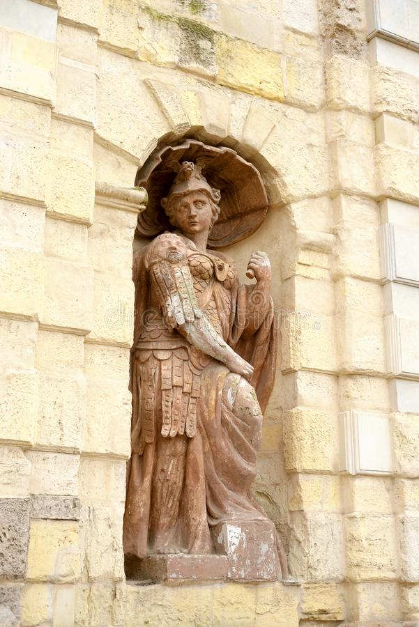 Estátua que simboliza a bravura foto de stock