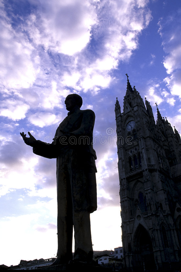 Estátua Quito, Equador fotografia de stock royalty free