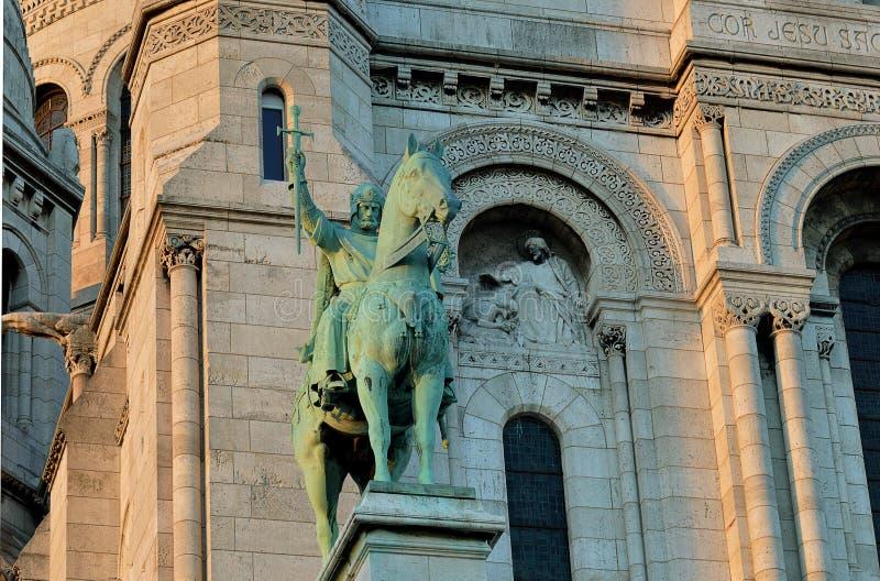 Estátua, rei Louis IX de França St Louis imagens de stock