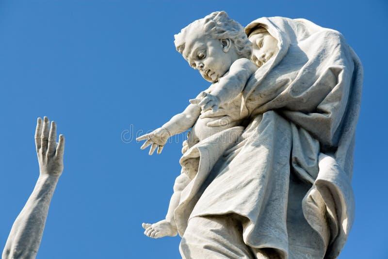 Estátua religiosa fotografia de stock