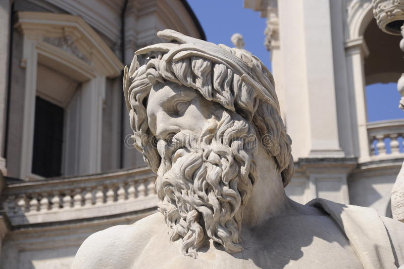 Estátua romana antiga fotos de stock