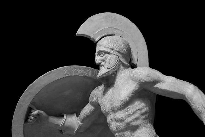 Estátua romana do guerreiro no capacete imagens de stock