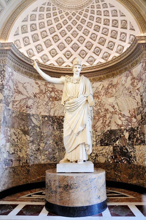 Estátua romana na grelha imagens de stock
