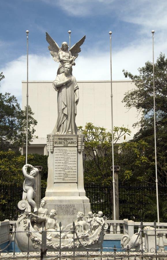 Estátua Ruben Dario Managua Nicarágua imagem de stock royalty free