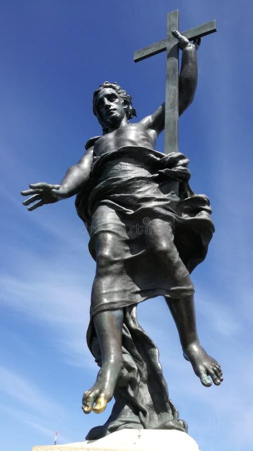 Estátua Sardinia de Redentore da montanha de Nuoro Ortobene imagem de stock royalty free