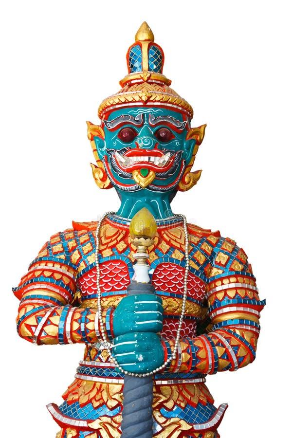 Estátua tailandesa do gigante do estilo fotografia de stock royalty free