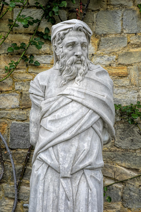 estátua velha imagem de stock