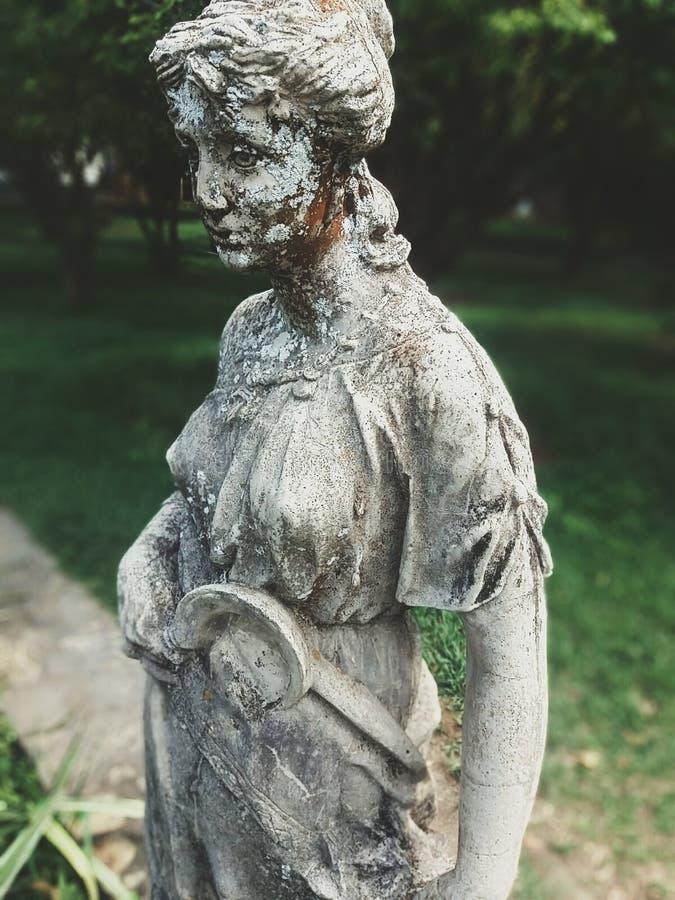 Estátua velha, do Brasil colonial velho foto de stock