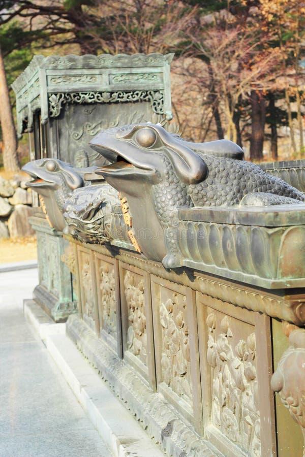 Estátuas antigas velhas Seoraksan, Coreia. fotos de stock royalty free