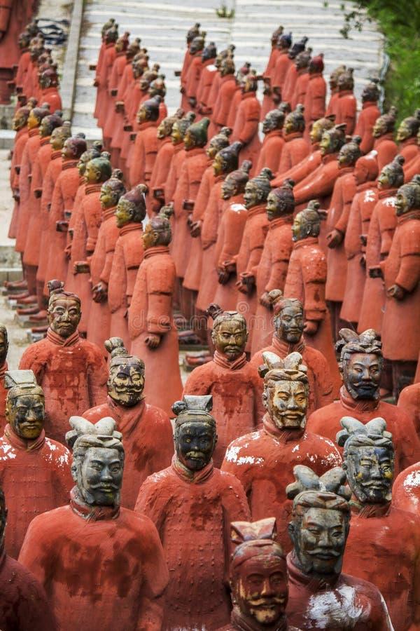 Estátuas da réplica dos soldados imagem de stock
