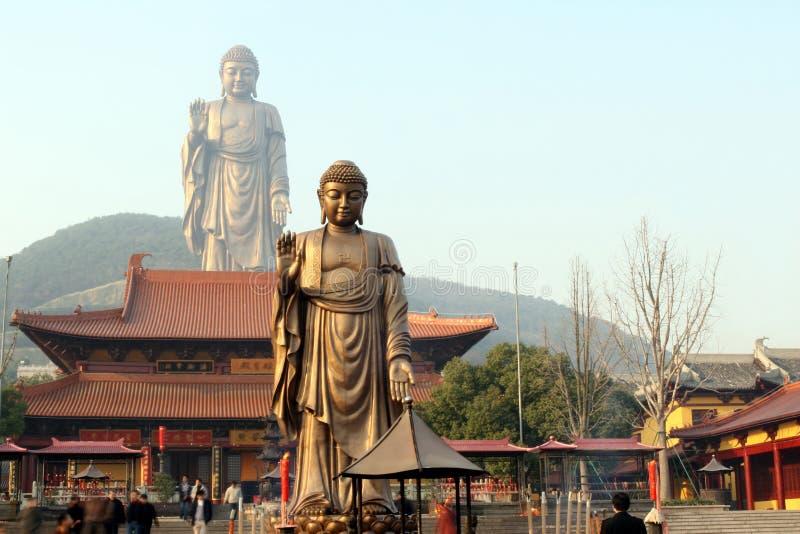 Estátuas de Buddha fotografia de stock