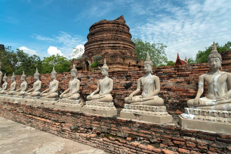 Estátuas de Buddha em Ayutthaya, Tailândia imagem de stock royalty free