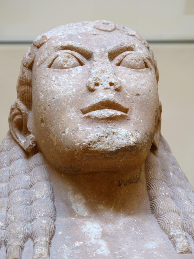 Estátuas de mármore do grego clássico, Delphi Museum, Grécia foto de stock royalty free