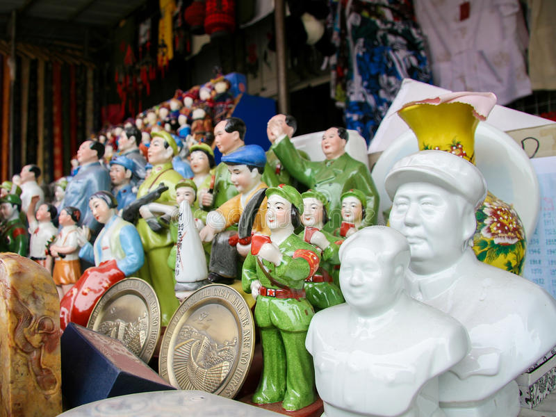 Estátuas de Mao no Pequim, China fotos de stock