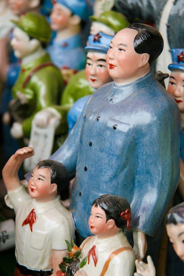 Estátuas de Mao no Pequim, China imagem de stock