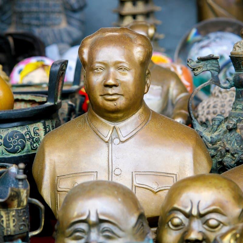 Estátuas de Mao no Pequim, China foto de stock royalty free