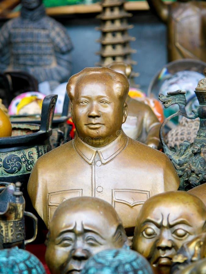 Estátuas de Mao no Pequim, China imagens de stock royalty free