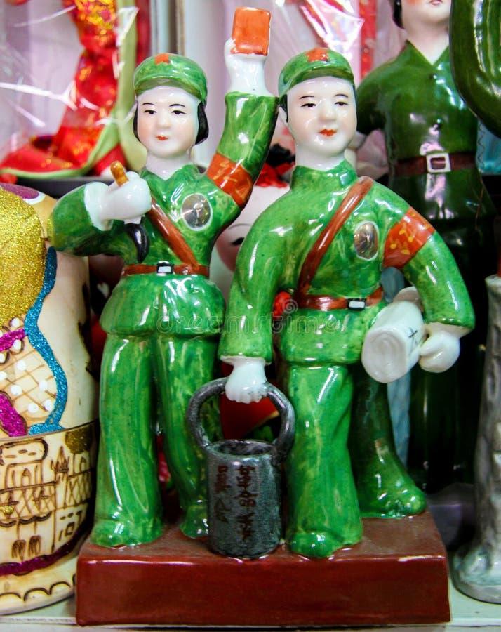 Estátuas de Mao no Pequim, China imagens de stock