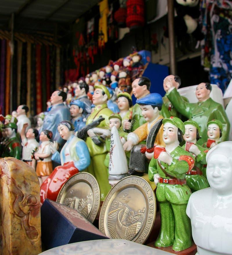 Estátuas de Mao no Pequim, China fotografia de stock royalty free