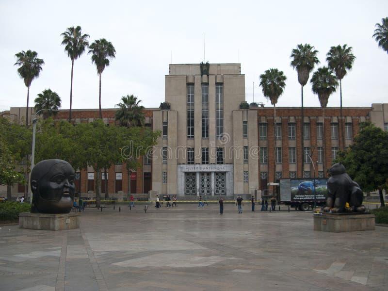 Estátuas de MEDELLIN, COLÔMBIA na plaza de Botero, museu de Antioquia fotografia de stock