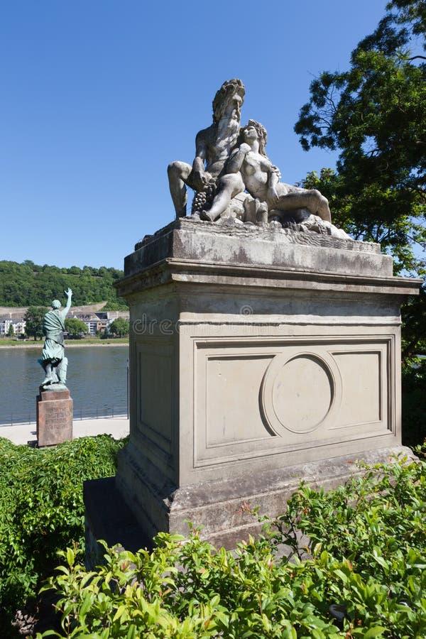 Estátuas de Rhine fotografia de stock royalty free
