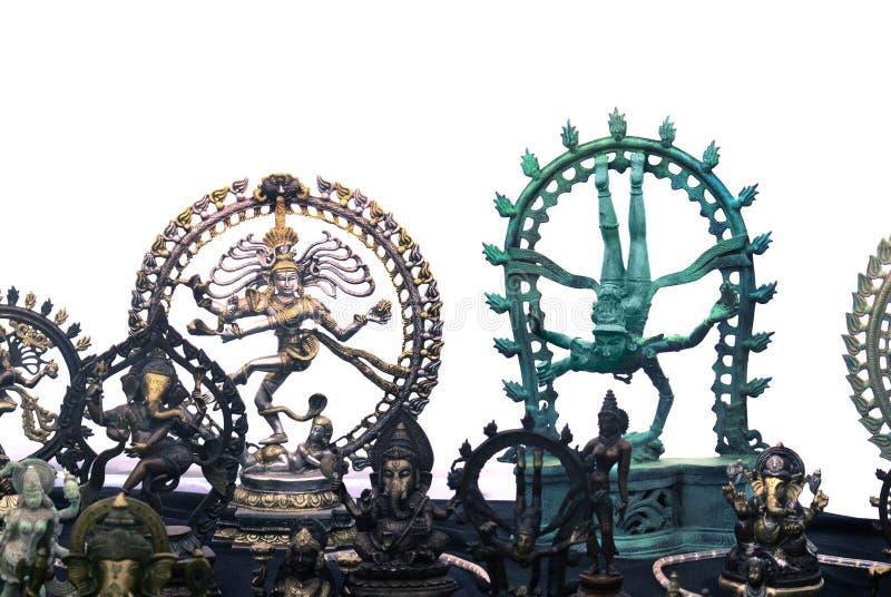 Estátuas divinas da ioga do altar foto de stock royalty free